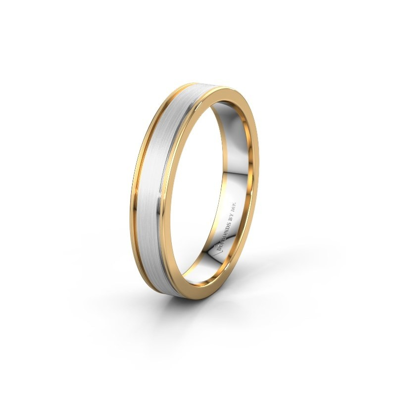 Wedding ring WH0600M14AM 585 white gold ±4x1.7 mm