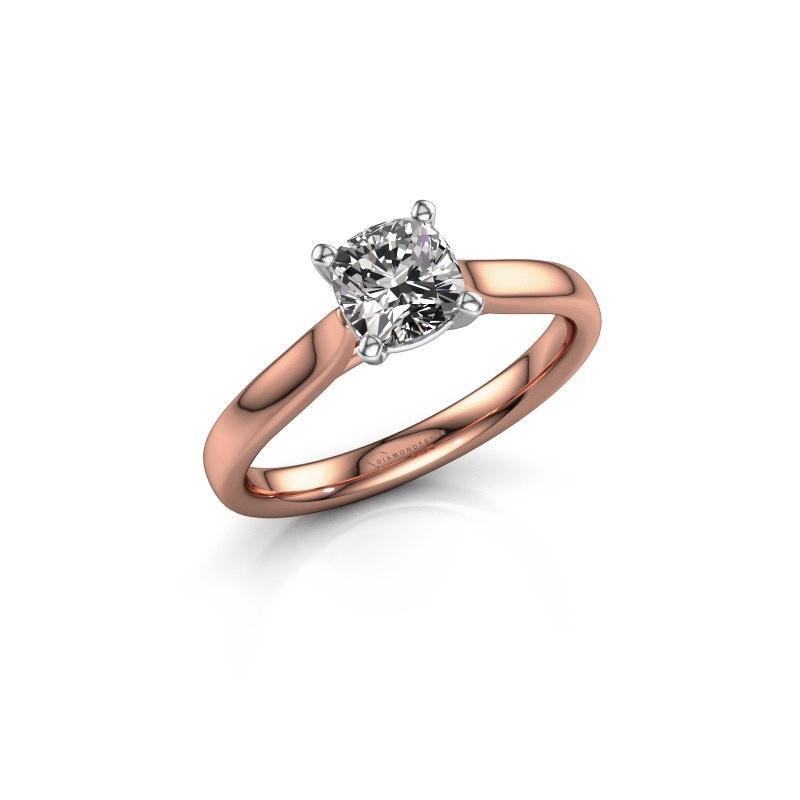 Verlovingsring Mignon cus 1 585 rosé goud diamant 1.00 crt