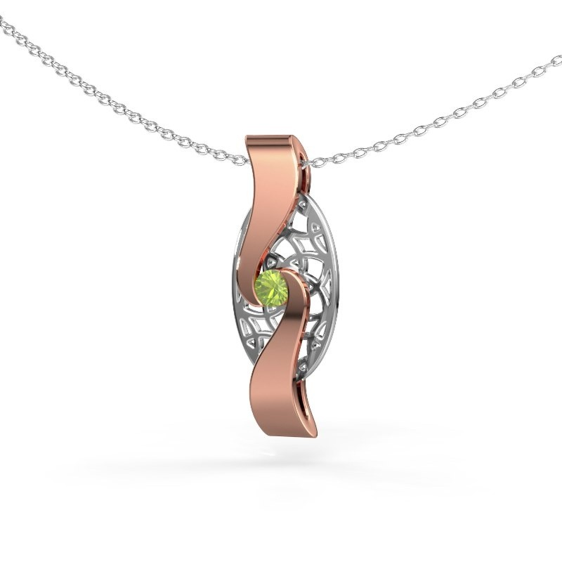 Pendant Darleen 585 rose gold peridot 3 mm