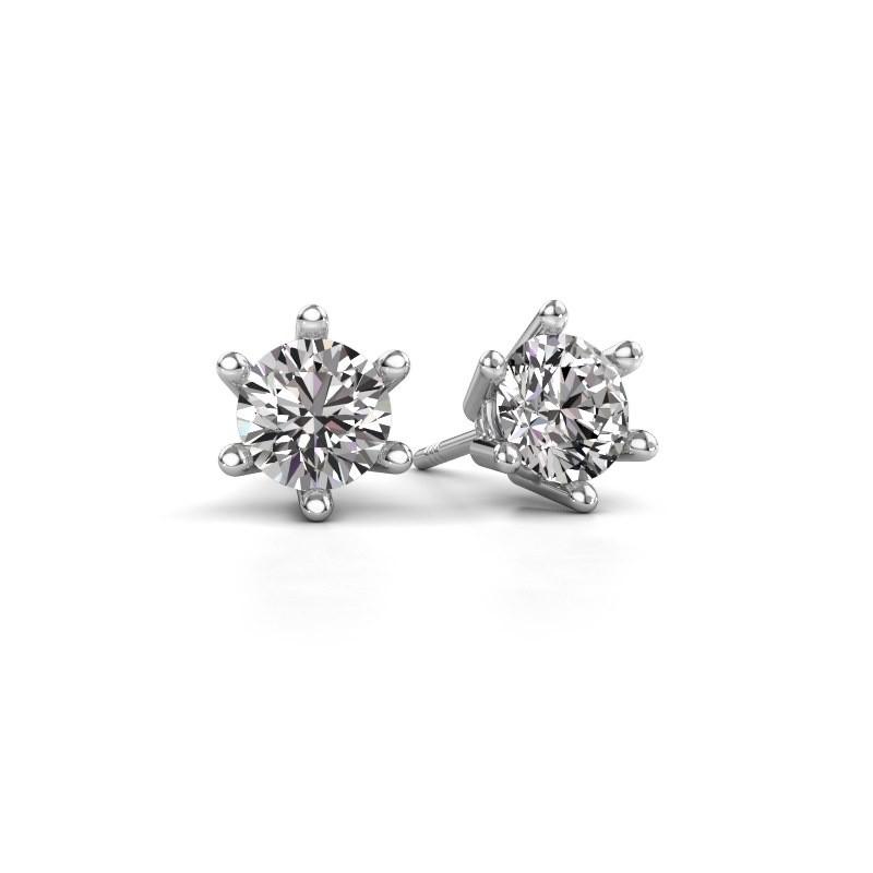 Oorbellen Fay 585 witgoud diamant 0.15 crt