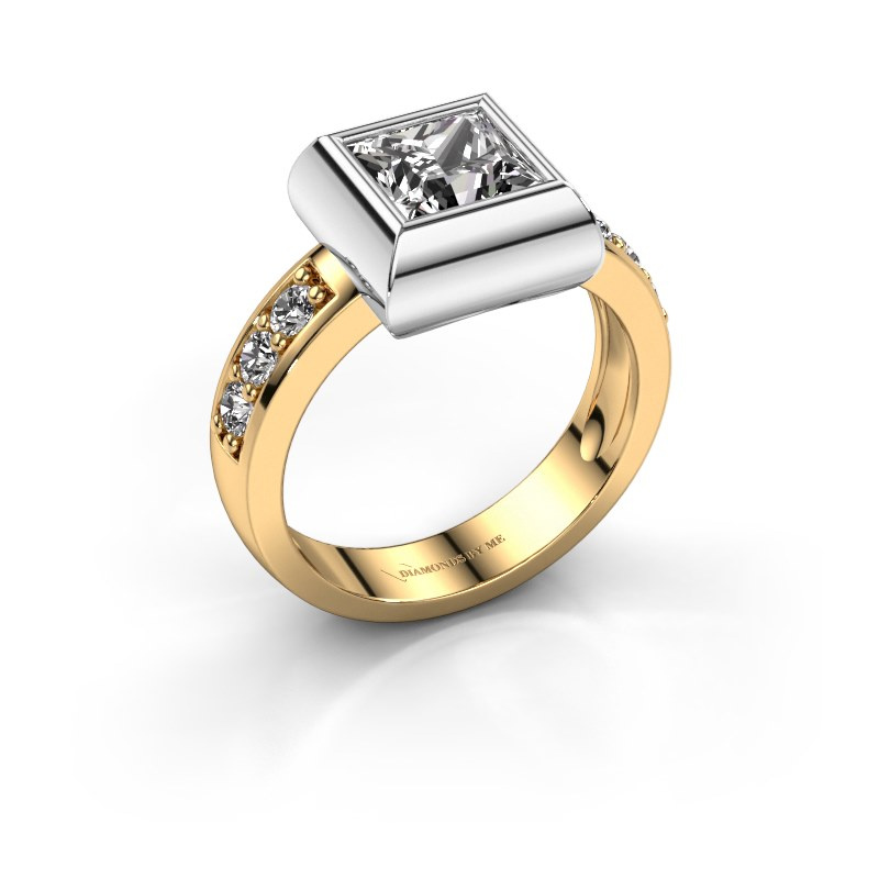 Ring Charlotte Square 585 gold diamond 1.00 crt