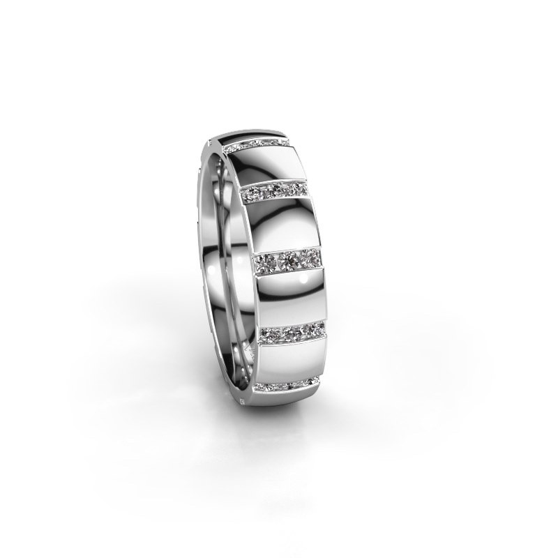 Weddings ring Juul 585 white gold diamond ±5x1 8 mm