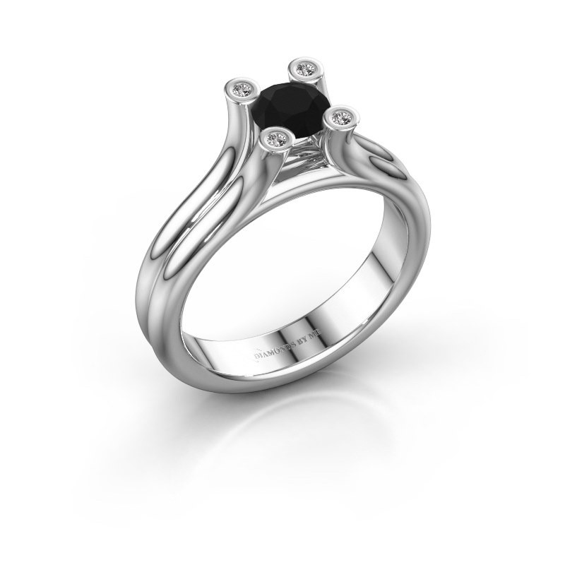 Engagement ring Stefanie 1 950 platinum black diamond 0.60 crt