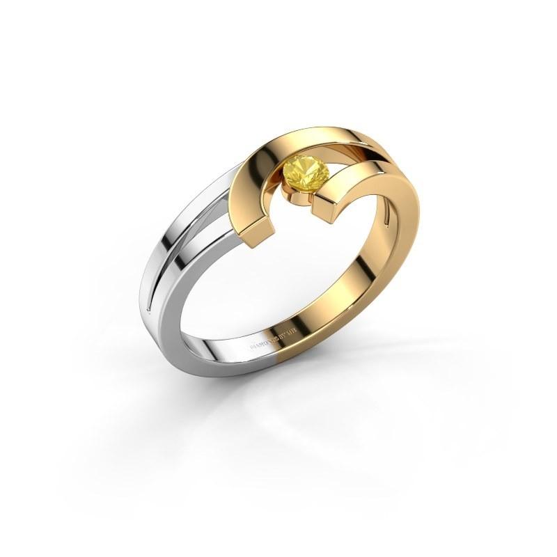 Ring Yentl 585 goud gele saffier 3 mm