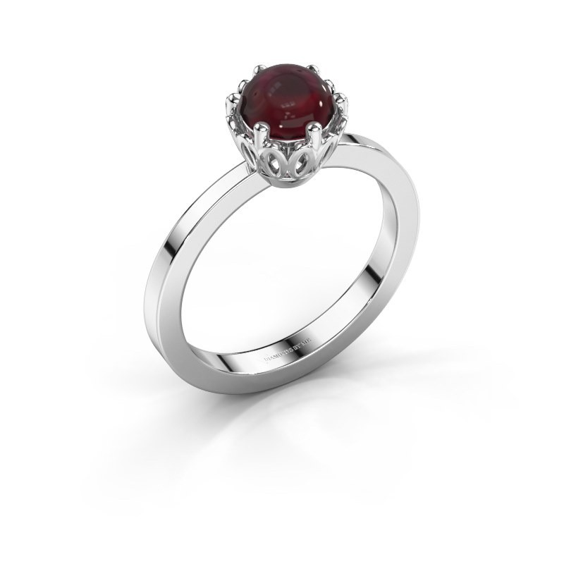 Ring Marly 950 platinum garnet 6 mm