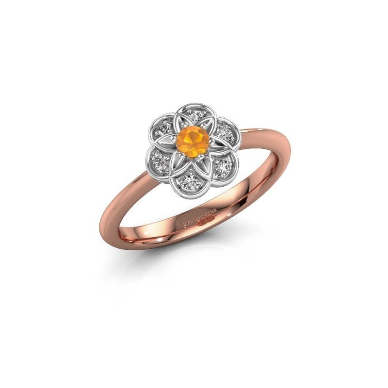 Engagement ring Uma 585 rose gold citrin 3 mm