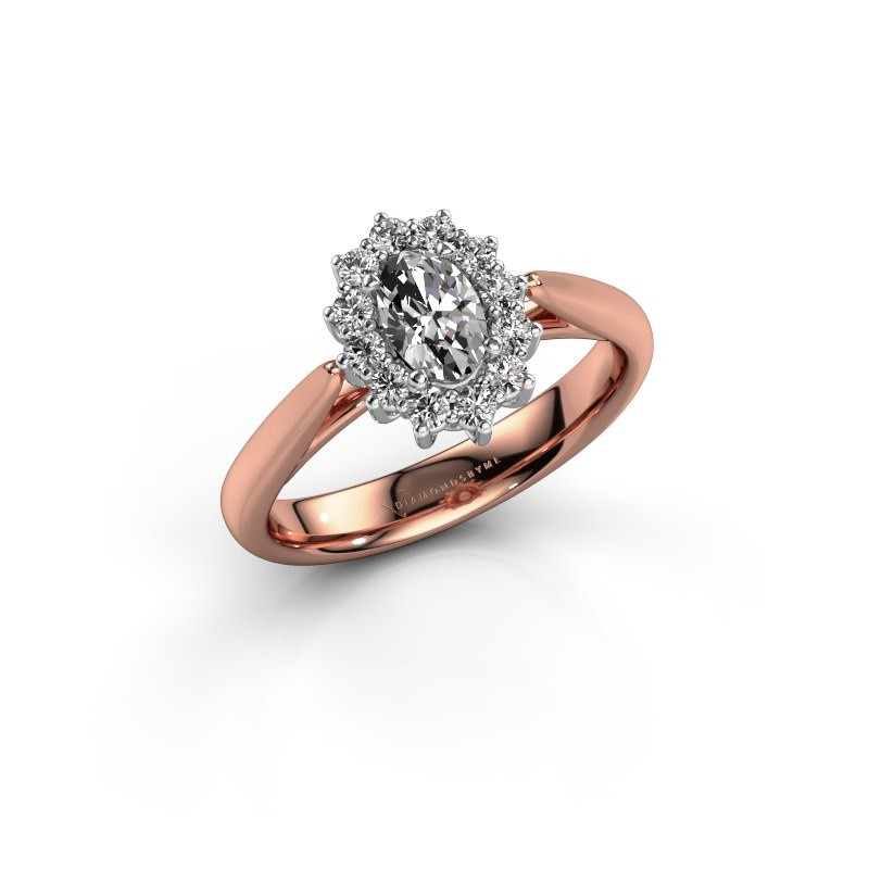 Verlovingsring Margien 1 585 rosé goud diamant 0.50 crt