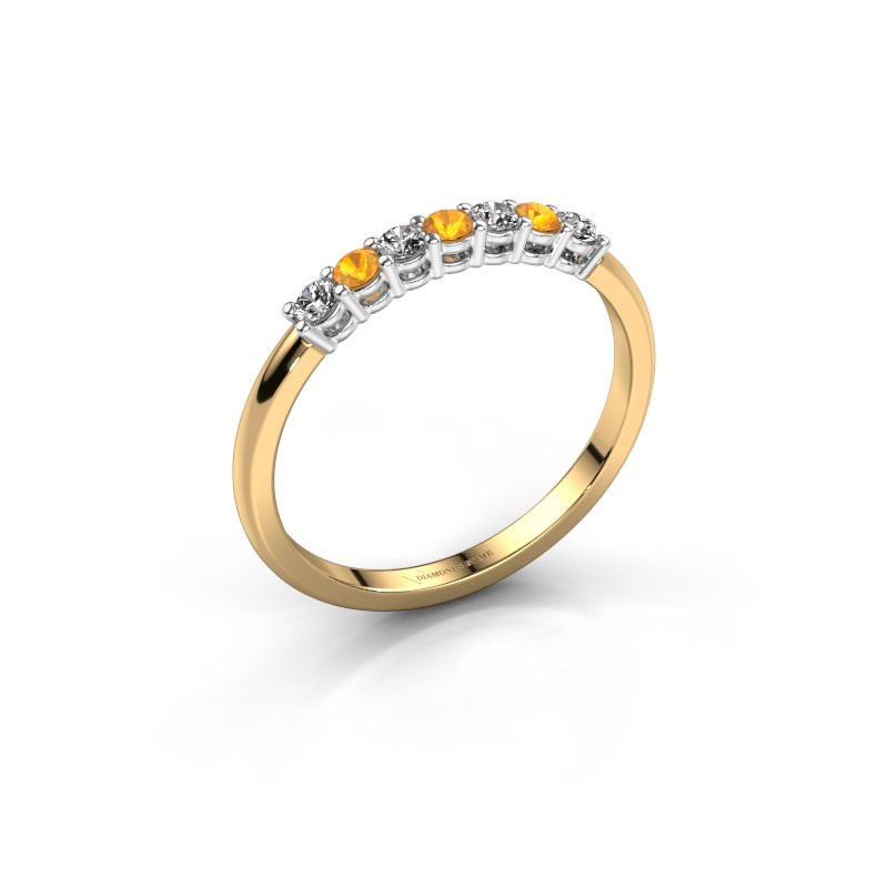 Engagement ring Michelle 7 585 gold citrin 2 mm