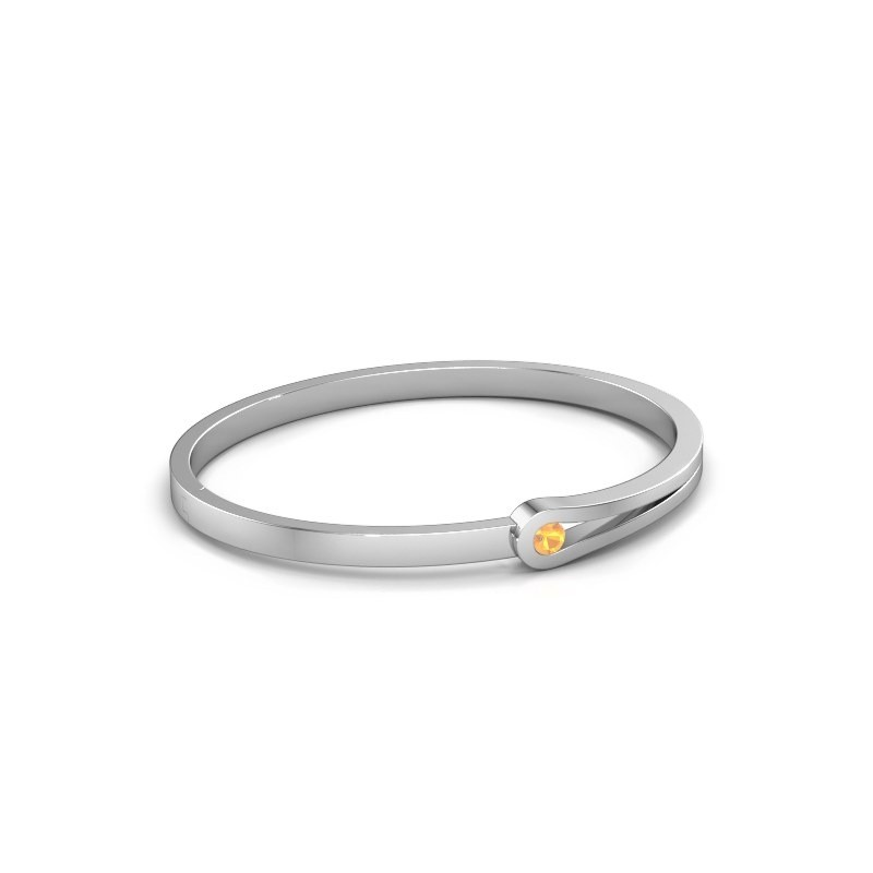 Bracelet jonc Kiki 950 platine citrine 4 mm