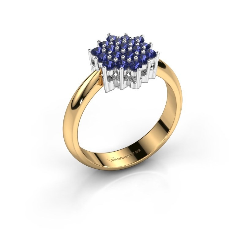 Ring Bente 585 goud saffier 1.9 mm