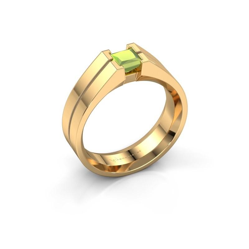 Heren ring Stefan 585 goud peridoot 4.5 mm