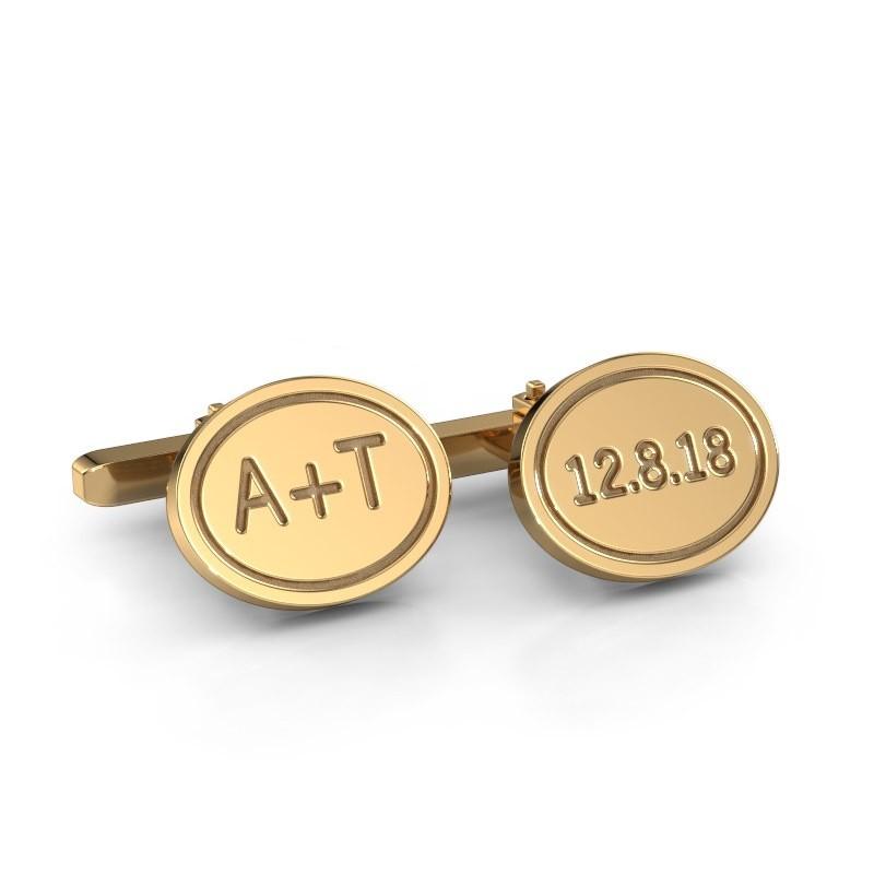 Manchetknopen Jurian 585 goud