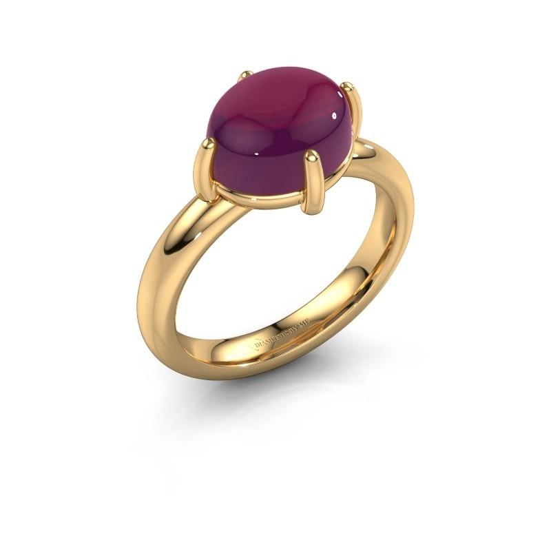 Ring Melodee 585 goud rhodoliet 10x8 mm