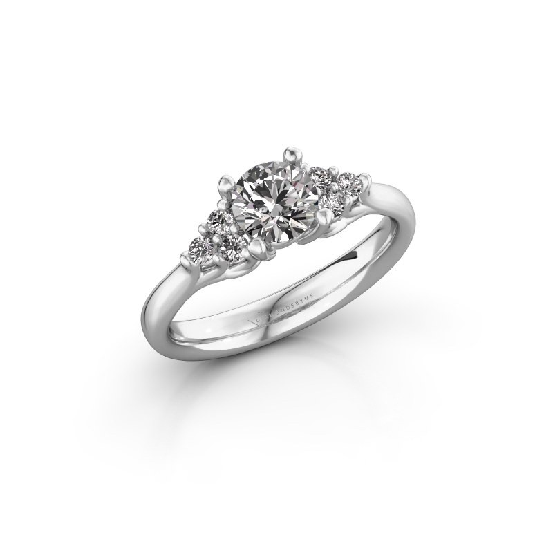 Verlovingsring Monika RND 585 witgoud lab-grown diamant 0.75 crt