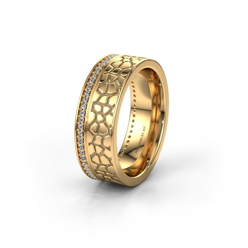 Trouwring WH2070L17C 585 goud diamant ±7x2.2 mm
