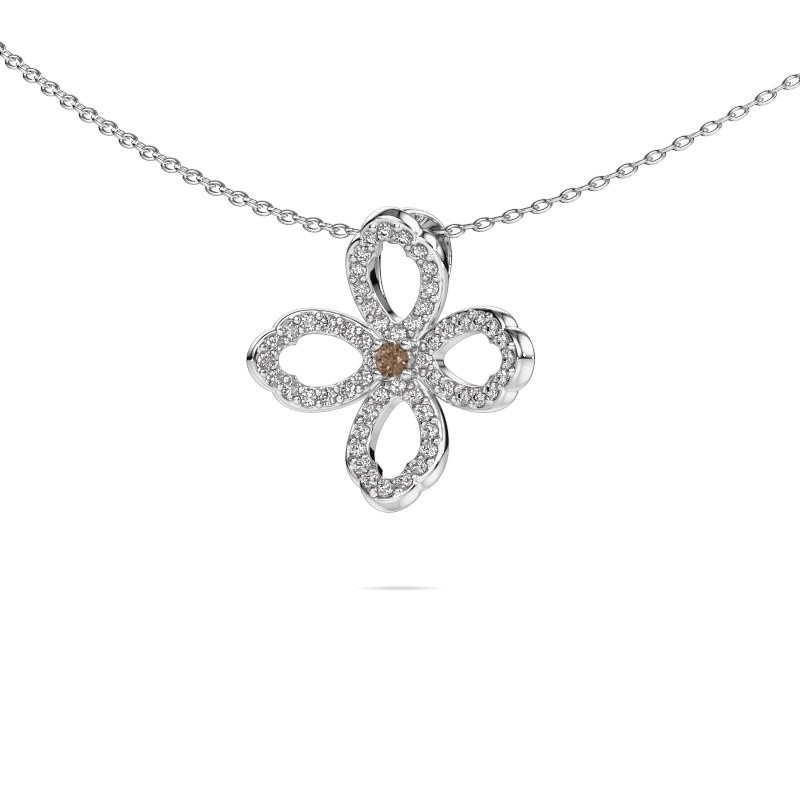 Kette Chelsea 585 Weißgold Braun Diamant 0.31 crt