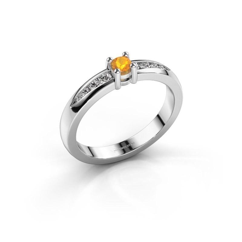 Verlovingsring Zohra 925 zilver citrien 3 mm