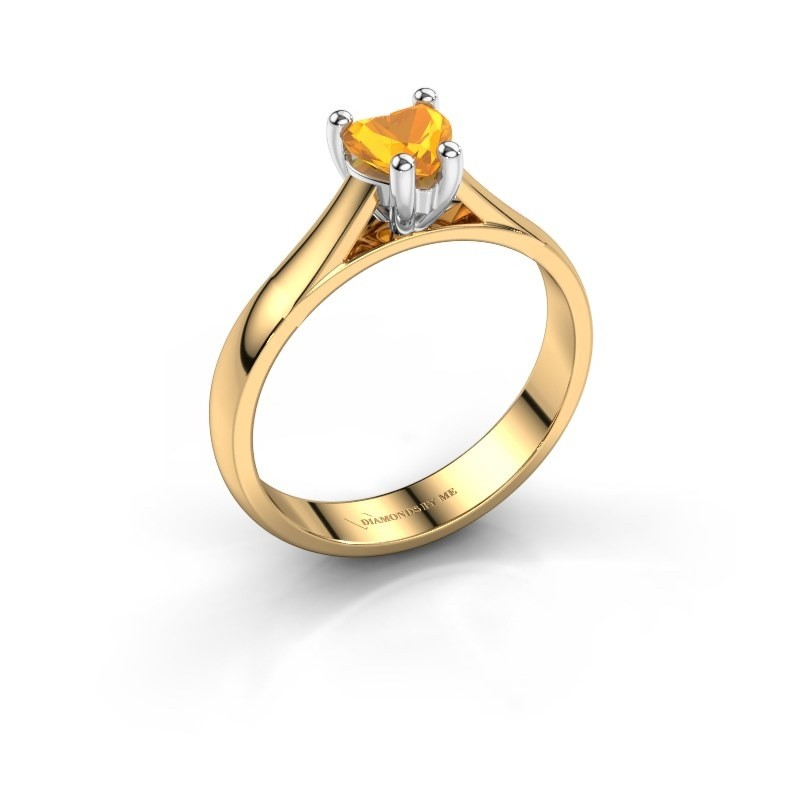 Verlobungsring Sam Heart 585 Gold Citrin 5 mm
