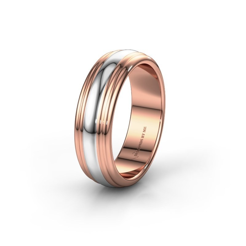 Wedding ring WH2234MN 585 rose gold ±6x2 mm