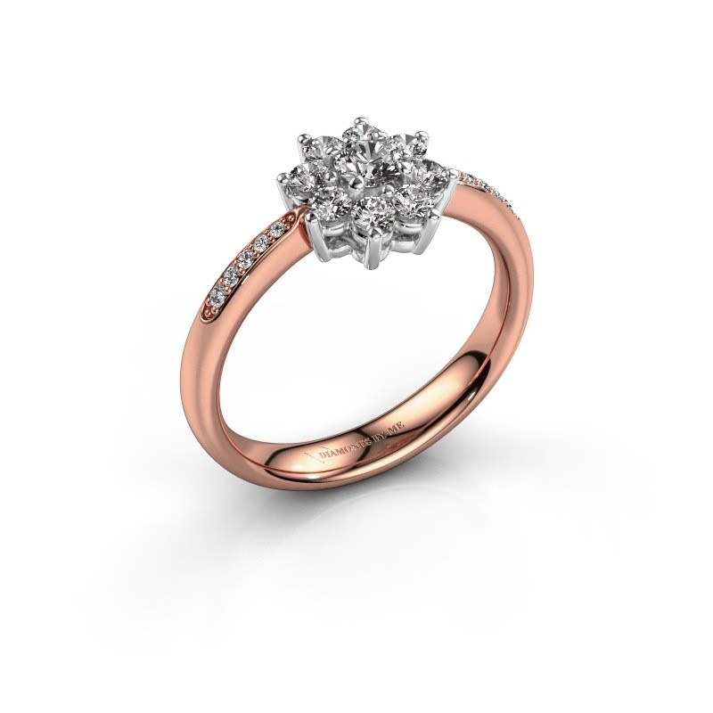 Verlovingsring Camille 2 585 rosé goud lab-grown diamant 0.15 crt