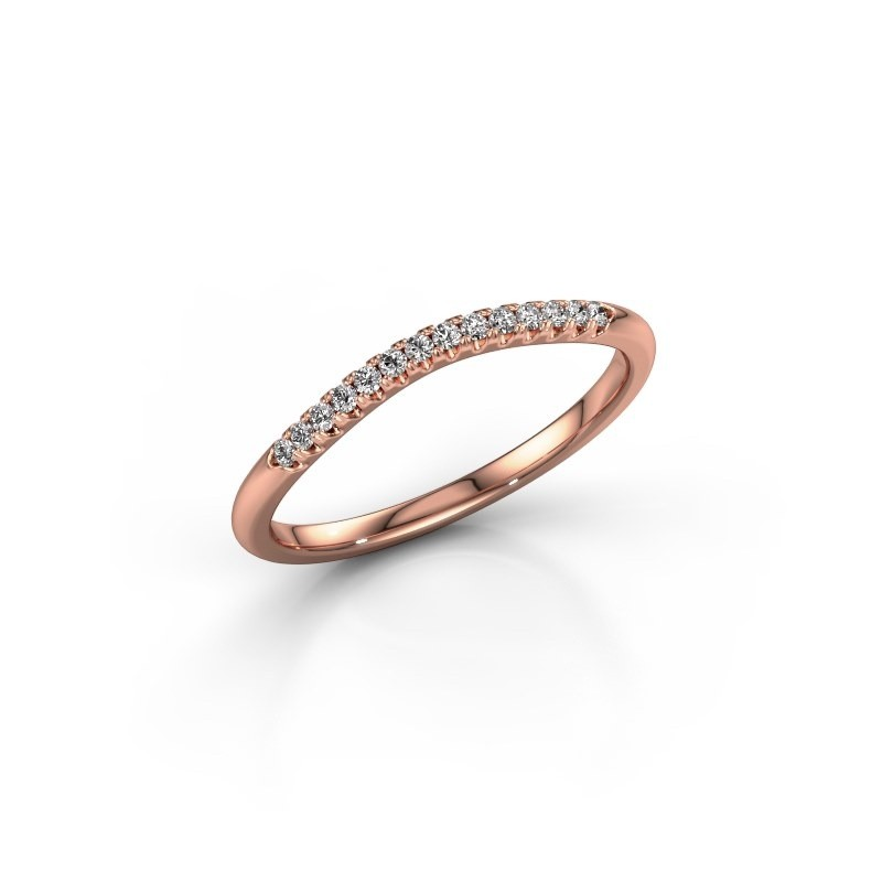 Aanschuifring SR10A4H 375 rosé goud lab-grown diamant 0.113 crt
