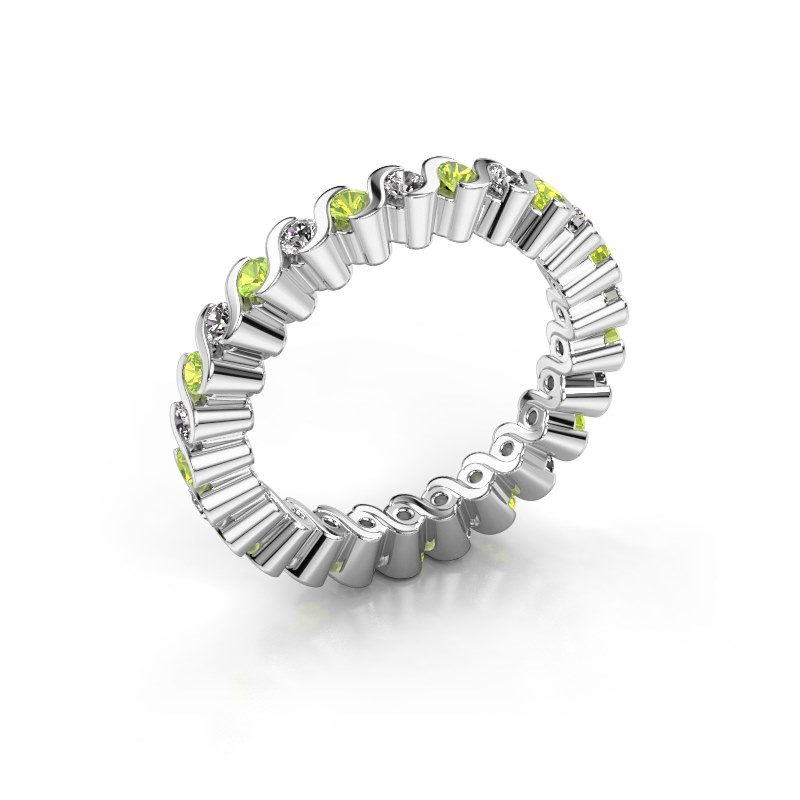Stackable ring Faye 585 white gold peridot 2 mm