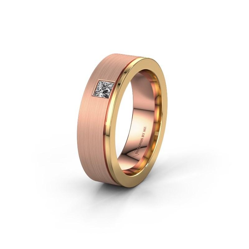 Trouwring WH0550L16CMP 585 rosé goud lab-grown diamant ±6x2.2 mm