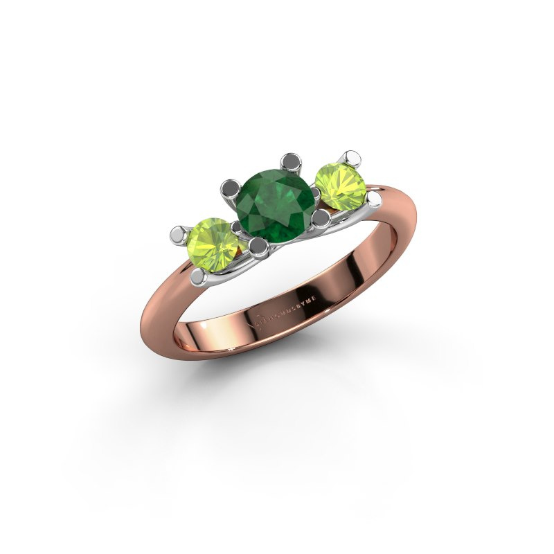 Ring Mirthe 585 rose gold emerald 5 mm