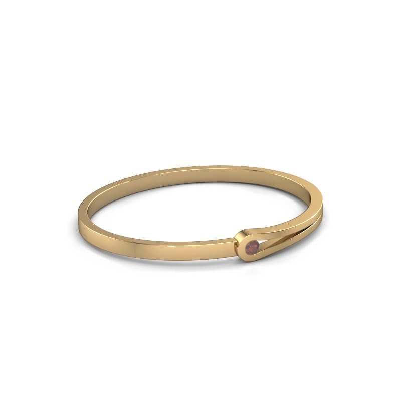 Bracelet jonc Kiki 585 or jaune grenat 4 mm