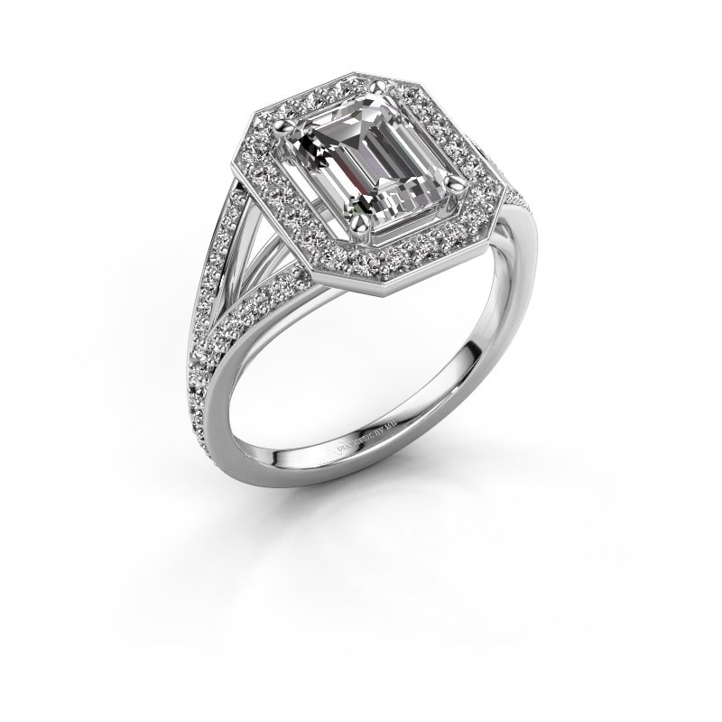 Promise ring Angelita EME 585 witgoud zirkonia 8x6 mm