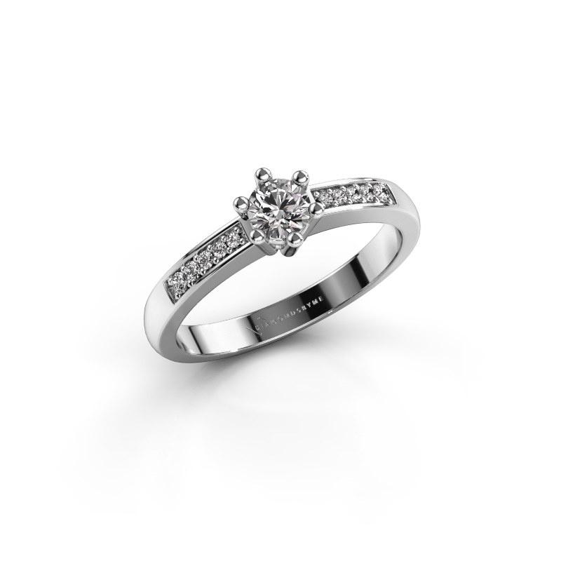 Verlovingsring Luna 2 585 witgoud diamant 0.25 crt