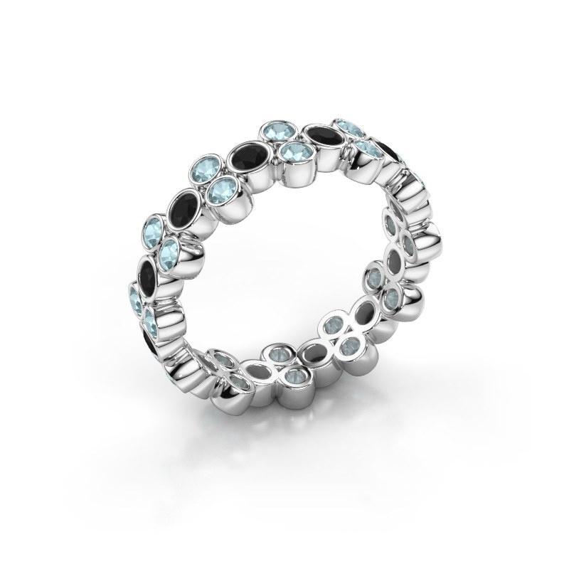 Bague Victoria 585 or blanc diamant noir 0.792 crt