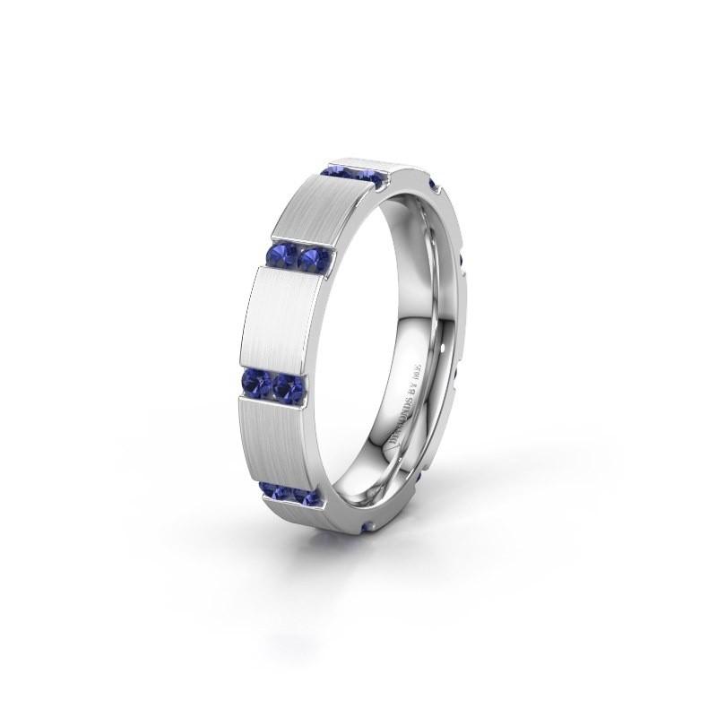 Weddings ring WH2132L14BM 585 white gold sapphire ±4x2.2 mm