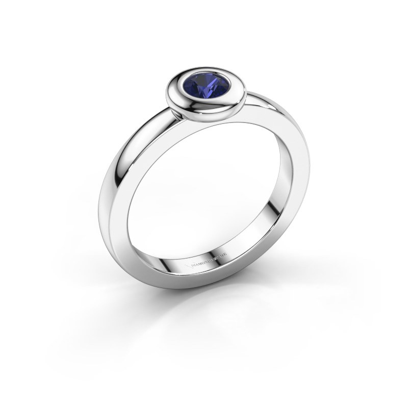 Ring Iris 925 silver sapphire 4 mm