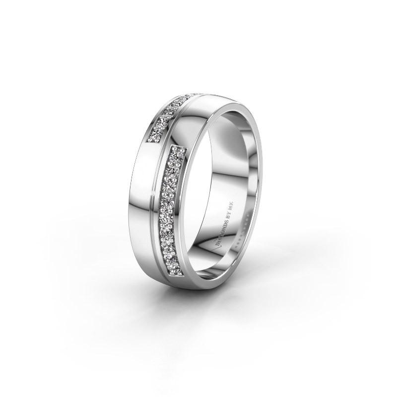Wedding ring WH0213L26AP 950 platinum zirconia ±0.24x0.07 in