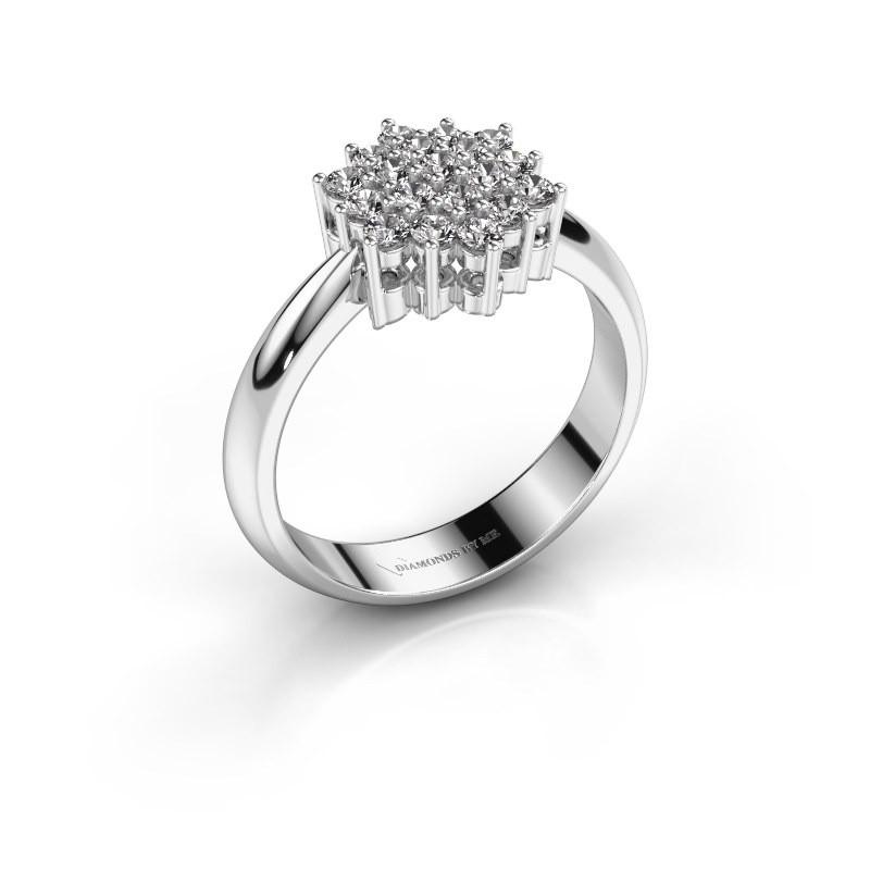 Ring Bente 585 witgoud zirkonia 1.9 mm