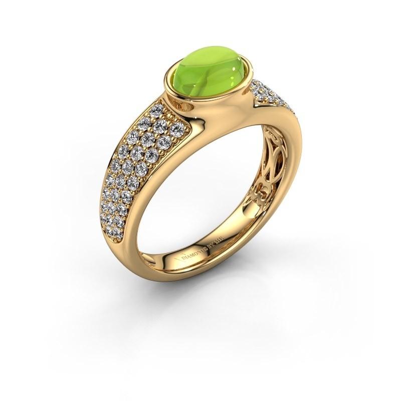 Ring Tatyana 585 goud peridoot 7x5 mm