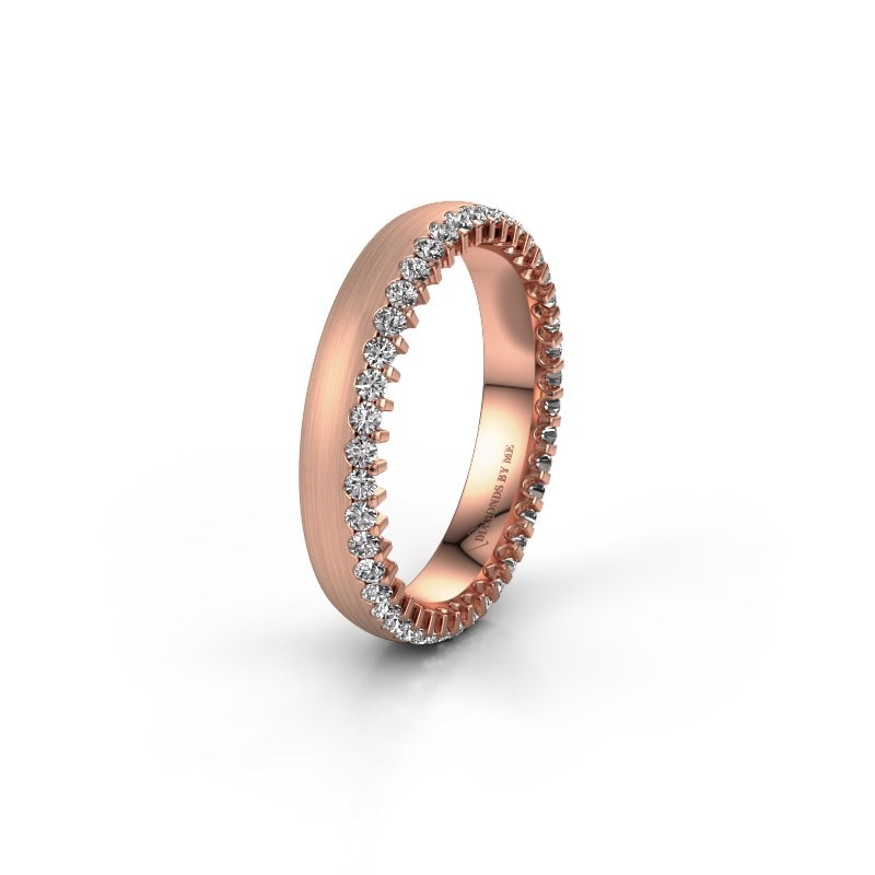 Trouwring WH2138L24B 375 rosé goud diamant ±4x2 mm