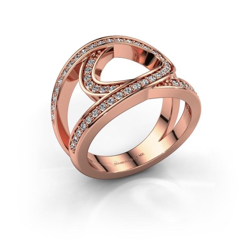 Ring Louise 375 rosé goud diamant 0.443 crt