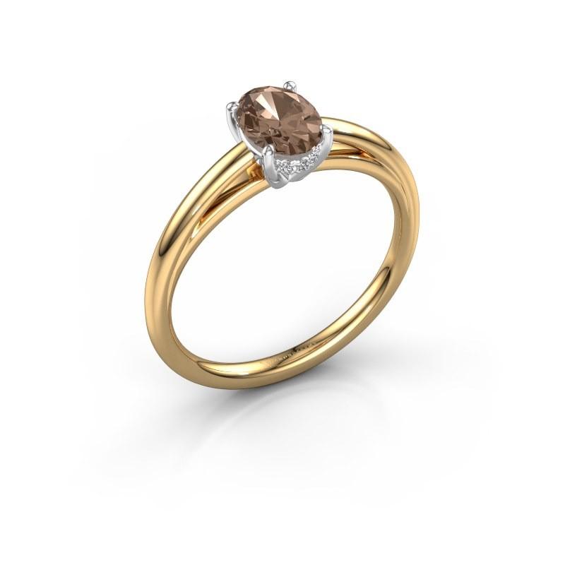 Verlobungsring Haley OVL 1 585 Gold Braun Diamant 0.80 crt