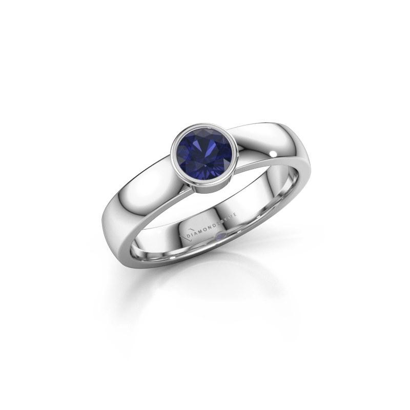 Ring Ise 1 950 platina saffier 4.7 mm