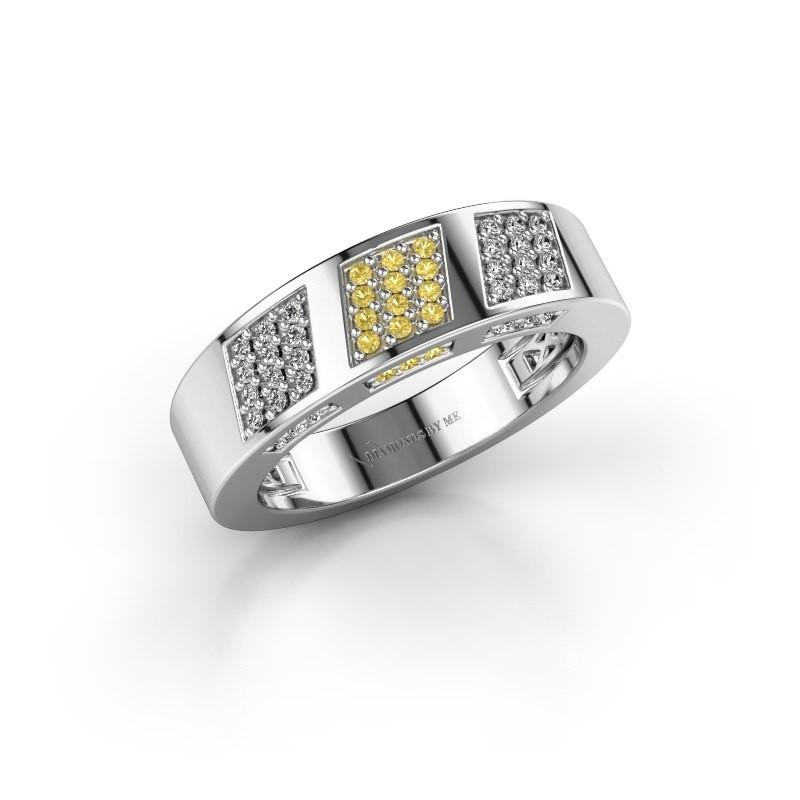 Ring Jessika 925 zilver gele saffier 1.1 mm