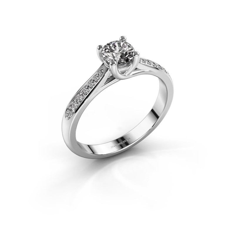 Verlovingsring Mia 2 585 witgoud diamant 0.50 crt