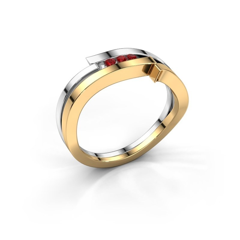 Ring Amelie 585 gold ruby 1.7 mm