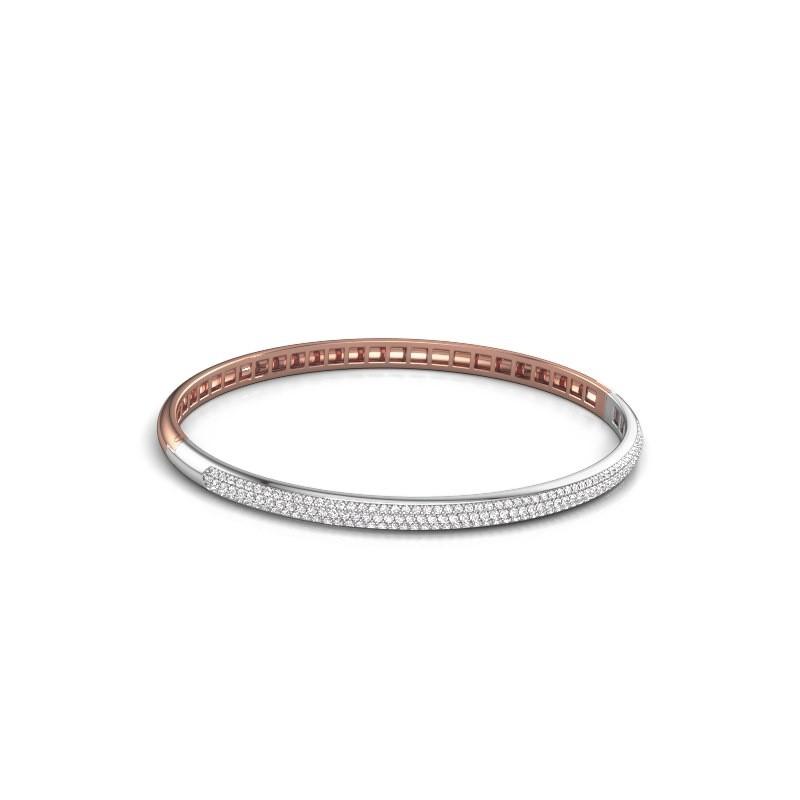 Slavenarmband Emely 4mm 585 rosé goud diamant 1.178 crt