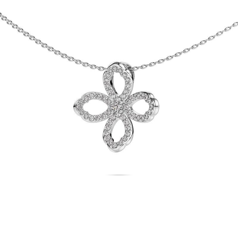 Ketting Chelsea 585 witgoud diamant 0.31 crt