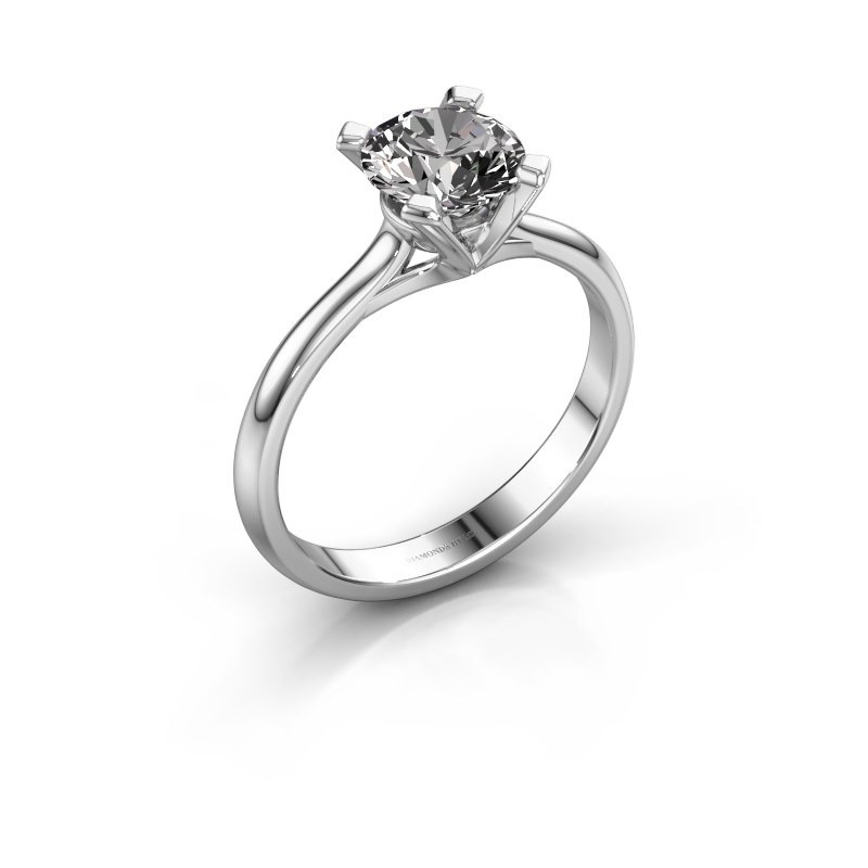 Verlovingsring Isa 1 925 zilver diamant 1.00 crt