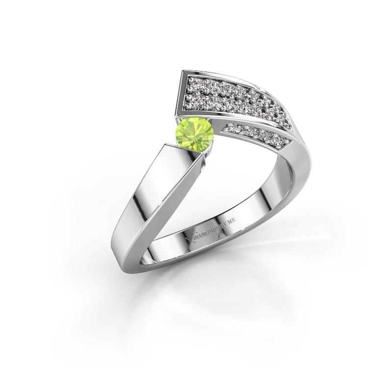 Ring Evie 925 Silber Peridot 3.4 mm