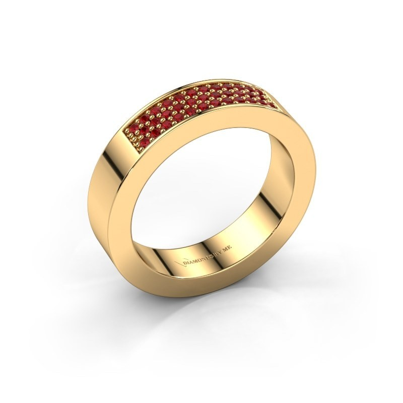 Ring Lindsey 1 375 goud robijn 1.1 mm