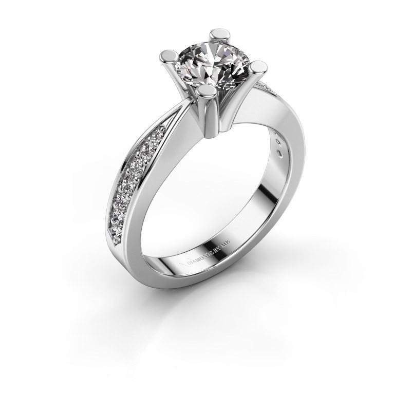 Promise ring Ichelle 2 585 witgoud diamant 1.256 crt